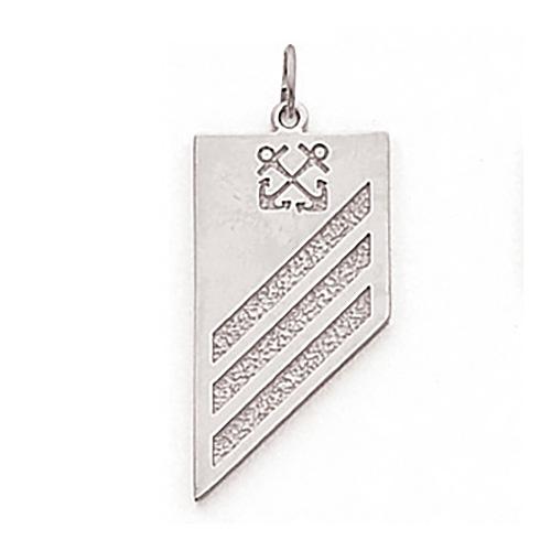 Sterling Silver 1 1/8in US Navy Seamen Pendant