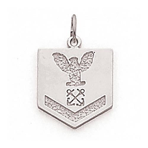5/8in US Navy PO3 Pendant - Sterling Silver