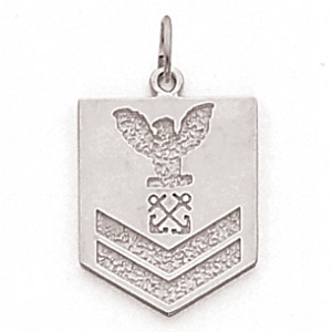 3/4in US Navy PO2 Pendant - Sterling Silver