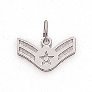 3/8in US Air Force A1C Pendant - Sterling Silver