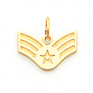 14kt Yellow Gold 7/16in US Air Force Senior Airman Pendant