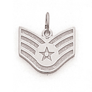 1/2in US Air Force SSgt Pendant - Sterling Silver