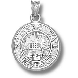 Sterling Silver 5/8in Michigan State University Seal Pendant