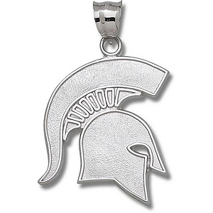 Michigan State Spartans 1 3/4in Sterling Silver Pendant