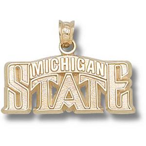 Michigan State 7/16in 14k Bridge Pendant