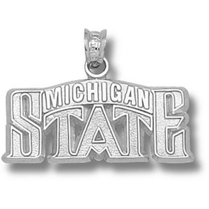 Sterling Silver 7/16in Michigan State Bridge Pendant