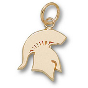 Michigan State Spartans 1/2in 14k Solid Pendant