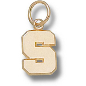 Michigan State Spartans 3/8in 14k S Pendant