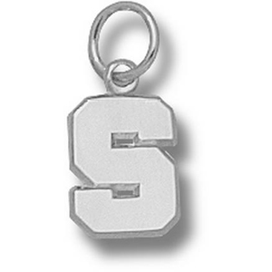 Sterling Silver 3/8in Michigan State Polished S Pendant