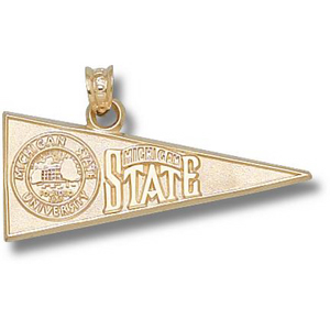 Michigan State Spartans 1/2in 10k Pennant