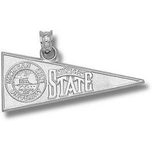Michigan State Spartans 1/2in Sterling Silver Pennant