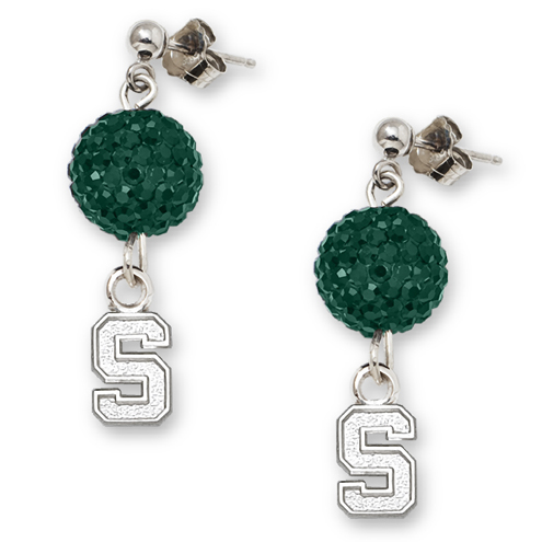 Michigan State University Crystal Ovation Earrings