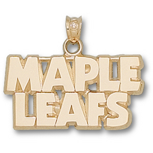 10kt Yellow Gold Toronto maple Leafs