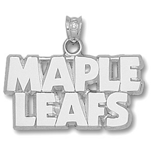 Sterling Silver Toronto Maple Leafs Block Pendant