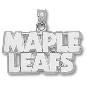 Sterling Silver Toronto Maple Leafs Block Pendant