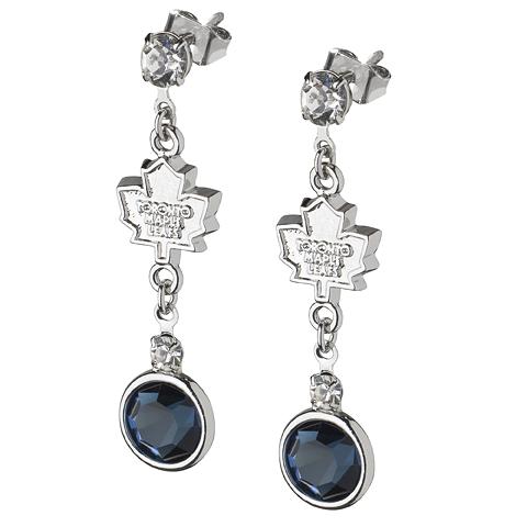 Toronto Maple Leafs Crystal Logo Earrings