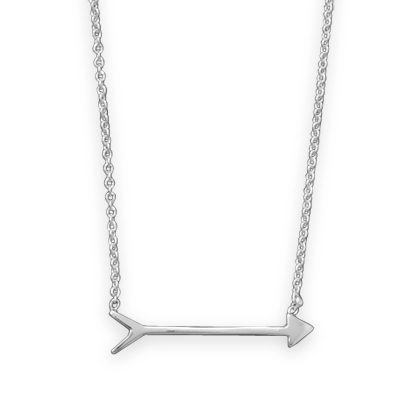 Sterling Silver 16in Love's Arrow Necklace