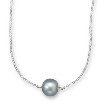 Sterling Silver 16in Silver Freshwater Cultured Pearl Necklace
