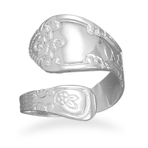 Sterling Silver Polished Spoon Ring