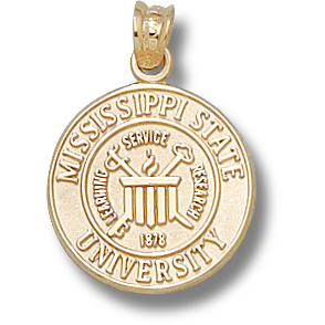 Mississippi State 5/8in 14k Seal Pendant