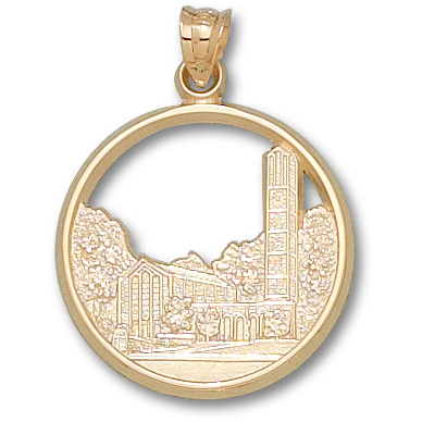 Mississippi State 7/8in 14k Chapel Pendant
