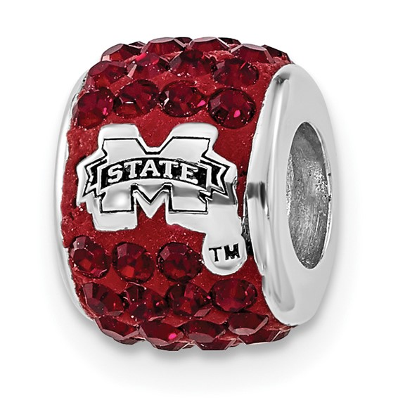 Sterling Silver Mississippi State Premier Bead Charm