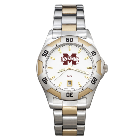 Mississippi State University All-Pro Men's Two-Tone Watch