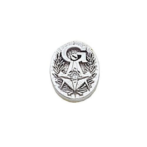 Masonic Diamond Tie Tac - 10k White Gold