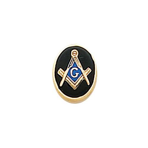 10k Yellow Gold Oval Masonic Tie Tac