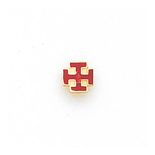 10k Yellow Gold Masonic Cross Potent Tie Tac