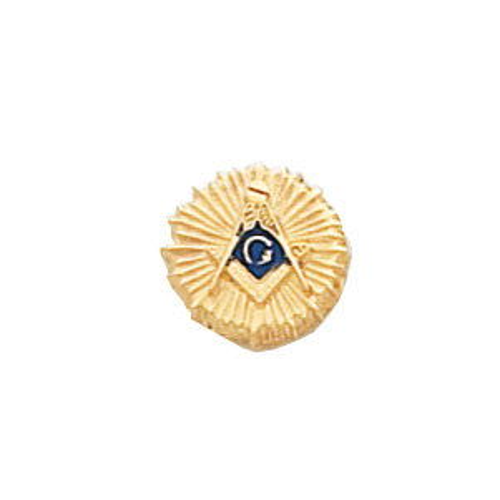 10k Yellow Gold Masonic Sunburst Tie Tac