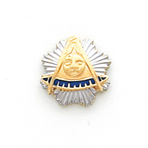 Masonic Past Master Tie Tac - 10k Yellow Gold