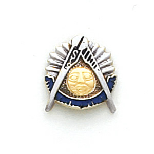 10k Two-tone Gold Masonic Past Master Tie Tac