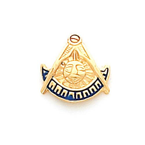 10k Yellow Gold Masonic Past Master Tie Tac