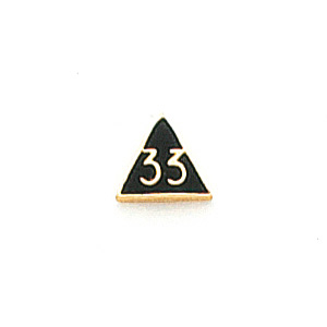 10k Yellow Gold 1/4in 33rd Degree Triangle Tie Tac