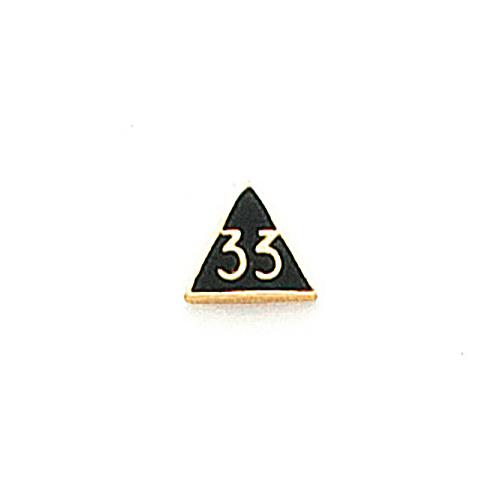 1/4in Scottish Rite Tie Tac - 10k Yellow Gold