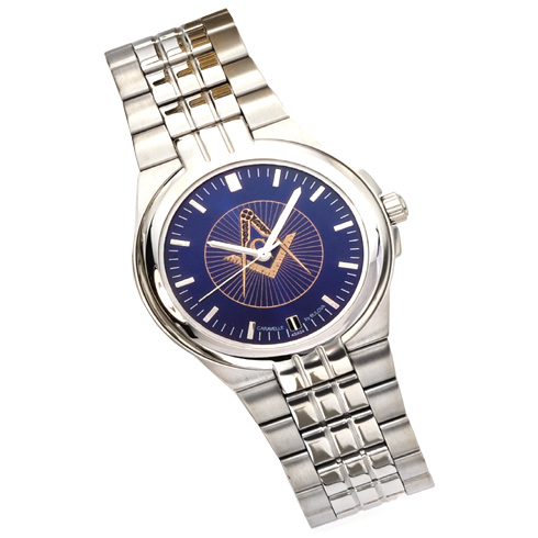 Caravelle by Bulova Masonic Watch with Blue Dial