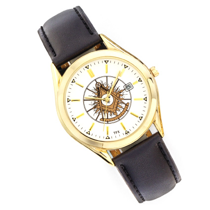 Past Master Watch with Black Leather Strap TFX by Bulova