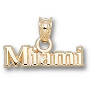 Miami Red Hawks 3/16in 14k Charm