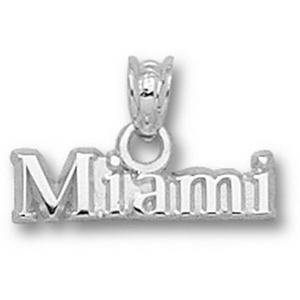 Miami Red Hawks 3/16in Sterling Silver Charm