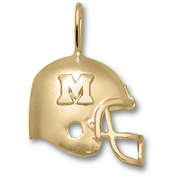Miami Red Hawks 3/4in 14k Helmet Pendant