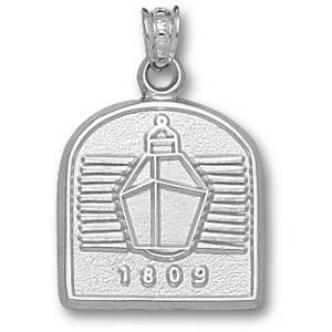 Sterling Silver 5/8in Miami Red Hawks Lantern Pendant