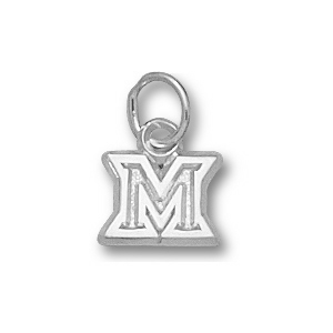 Sterling Silver 1/4in Miami University M Charm