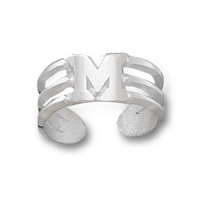 Miami Red Hawks Sterling Silver Toe Ring