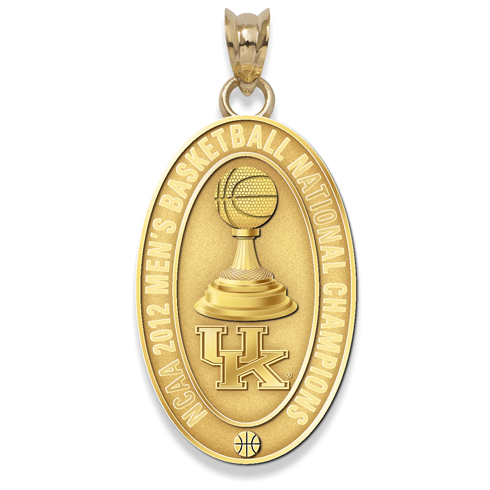 2012 University of Kentucky Basketball Champs 7/8in 10K Gold Charm
