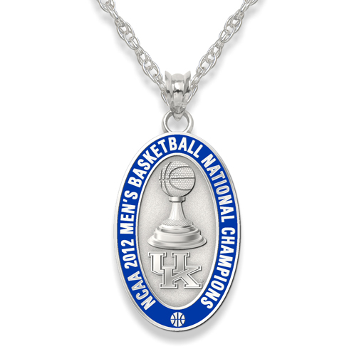 2012 University of Kentucky Basketball Champs Sterling Silver Necklace