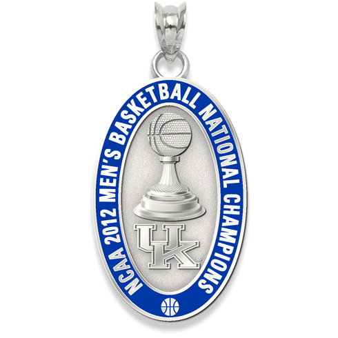 2012 University of Kentucky NCAA Basketball Champion 7/8in Sterling Silver Charm
