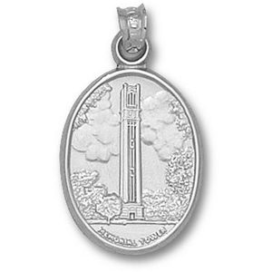Sterling Silver 3/4in North Carolina State Bell Tower Pendant
