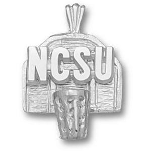 North Carolina State 5/8in Sterling Silver Pendant