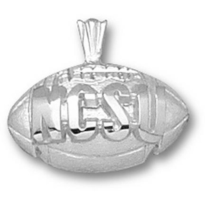 North Carolina State 1/2in Sterling Silver Pendant